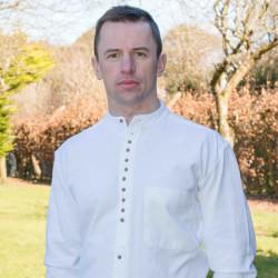 Emerald Isle Weaving White Irish Cotton Shirt Officer Collar