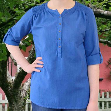 Chemisier Irlandais Coton Bleu Emerald Isle Weaving
