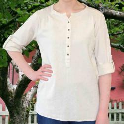 Emerald Isle Weaving Irish Ecru Cotton Shirt