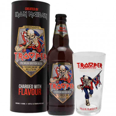 Trooper + 1 verre 50cl 4.7°