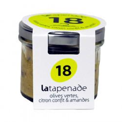 Tapenade Olives Vertes Citron Confit Amandes Secrets de Famille 90g