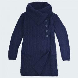 Manteau laine Marine Inis Crafts
