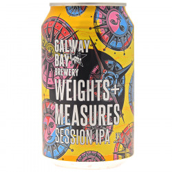 Galway Bay Weights & Measures Session IPA Canette 33cl 3°