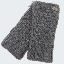 Kusan Grey Mittens with Shiny Thread