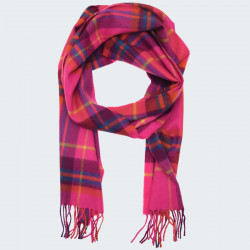 Avoca Merino Wool Bright Pink Scarf