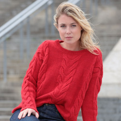 Out Of Ireland Twists Red Sweater