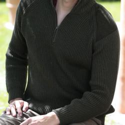 Peregrine Olive Foxton Zip Sweater