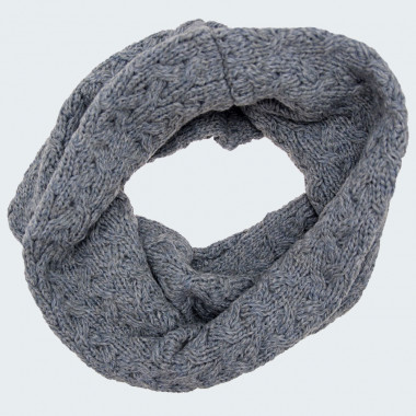 Aran Woollen Mills Grey Aran Snood
