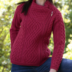 Inis Crafts Red Zipped Vest