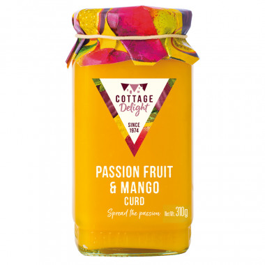 Cottage Delight Passion Fruit and Mango Curd 310g