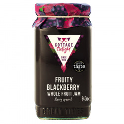 Cottage Delight Fruity Blackberry Whole Fruit Jam 340g