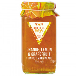 Cottage Delight Orange Lemon Grapefruit Marmelade 350g