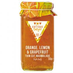 Marmelade Orange Citron Pamplemousse Cottage Delight 350g