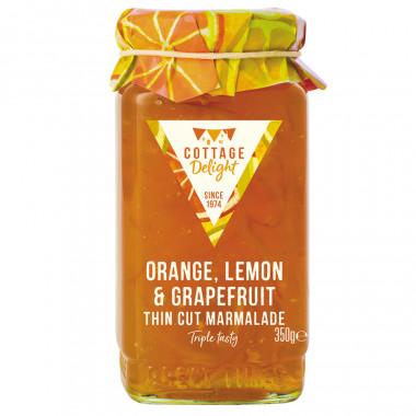 Cottage Delight Orange Lemon Grapefruit Marmelade 350g