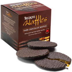 Tregroes Waffles Dark Chocolate Waffles with Caramel 270g
