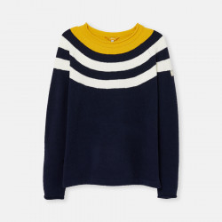Tom Joule Soft Sweater With Navy Yellow and White Stripes