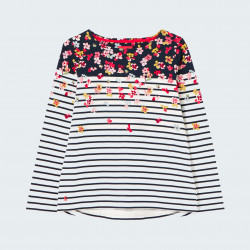 Tom Joule Flowers Navy Striped Harbour Shirt