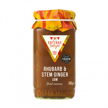 Confiture Rhubarbe Gingembre Cottage Delight 340g