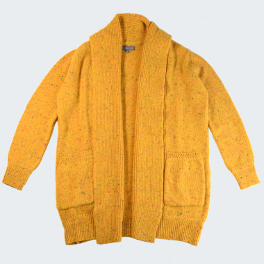 Best Yarn Long Heather Yellow Cardigan