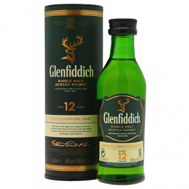Miniature Glenfiddich 12 Years Old 5cl 40°