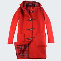 London Tradition New Cherry Angela Duffle-Coat
