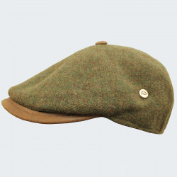 Celtic Alliance Green Tweed Cap with Button