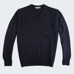 Best Yarn Navy V-neck Sweater