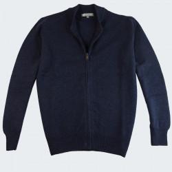 Best Yarn Navy Zipped Cardigan