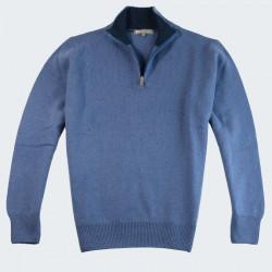 Pull Col 1/2 Zip Jean Best Yarn