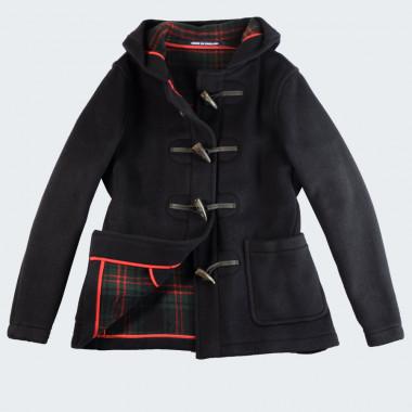 Duffle Coat Coupe Courte avec Boutons Corne