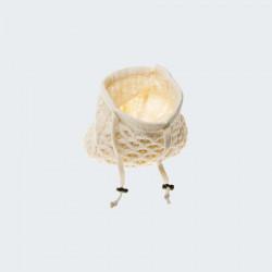 Aran Woolen Mills Adjustable Collar Ecru