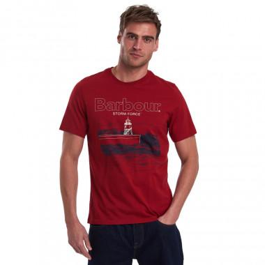 T-shirt Fareland Bordeaux Barbour