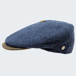 Celtic Alliance Blue Tweed Cap With Button