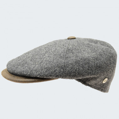 Celtic Alliance Grey Tweed Cap With Button