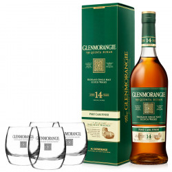Pack Glenmorangie The Quinta Ruban 14 Years Old 70cl 46° + 4 glasses