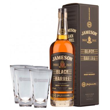 Pack Jameson Black Barrel 70cl 40° + 4 verres