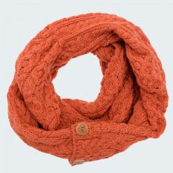 Orange Button Snood Aran Woolen Mills