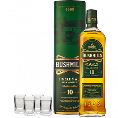 Bouteille Whiskey Bushmills 10 ans avec étui