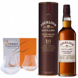 Pack Aberlour Forest 10 years 70cl 40 ° + 2 Tasting Glasses