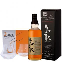 Pack The Tottori Bourbon Barrel 43 ° + 2 Tasting Glasses