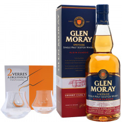 Pack Glen Moray Sherry Cask 70cl 40° + 2 Verres de Dégustation