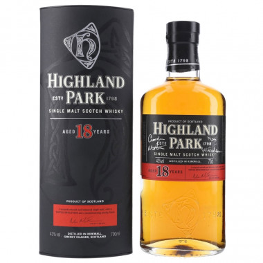 Whisky Highland Park 18 ans 70cl 43°