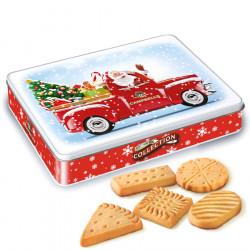 Campbells Metal Box Shortbreads Santa 150g