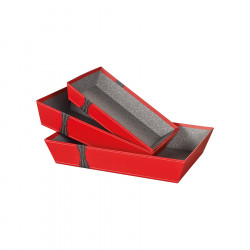 Gift Box Red Joyeuses Fêtes Knot Small Model