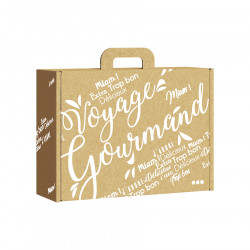 Gift Box Kraft White Voyage Gourmand Large Model
