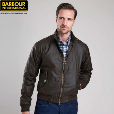 Barbour International Olive Merchant Jacket