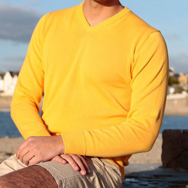 Out of Ireland Yellow V-Neck Sweater