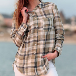 Khaki Checkered Shirt Out Of Ireland