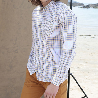 Out Of Ireland Navy And Yellow Check Shirt