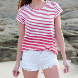Out Of Ireland Red Stripes T-Shirt